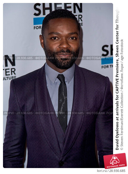 Купить «David Oyelowo at arrivals for CAPTIVE Premiere, Sheen Center for Thought and Culture, New York, NY September 14, 2015. Photo By: Steven Ferdman/Everett Collection», фото № 28930685, снято 14 сентября 2015 г. (c) age Fotostock / Фотобанк Лори