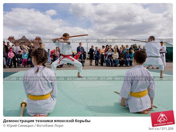Демонстрация техники японской борьбы, фото № 311209, снято 31 мая 2008 г. (c) Юрий Синицын / Фотобанк Лори