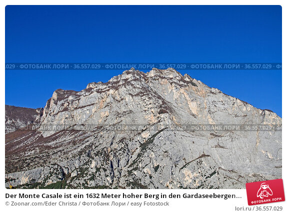 Der Monte Casale ist ein 1632 Meter hoher Berg in den Gardaseebergen... Стоковое фото, фотограф Zoonar.com/Eder Christa / easy Fotostock / Фотобанк Лори