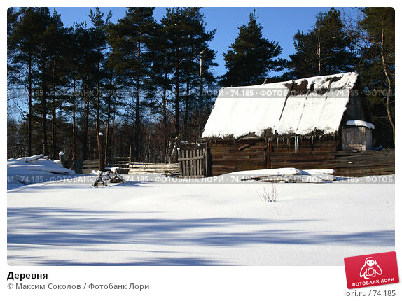 Деревня, фото № 74185, снято 25 февраля 2007 г. (c) Максим Соколов / Фотобанк Лори