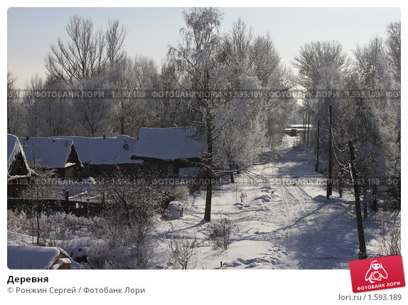 Деревня. Стоковое фото, фотограф Ронжин Сергей / Фотобанк Лори