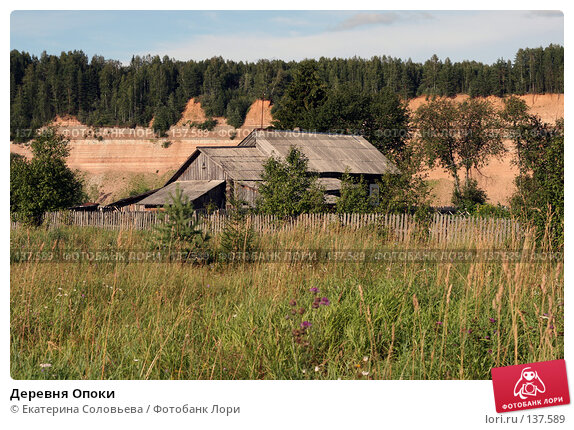 Купить «Деревня Опоки», фото № 137589, снято 1 августа 2007 г. (c) Екатерина Соловьева / Фотобанк Лори