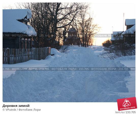 Деревня зимой, фото № 233705, снято 18 августа 2017 г. (c) VPutnik / Фотобанк Лори