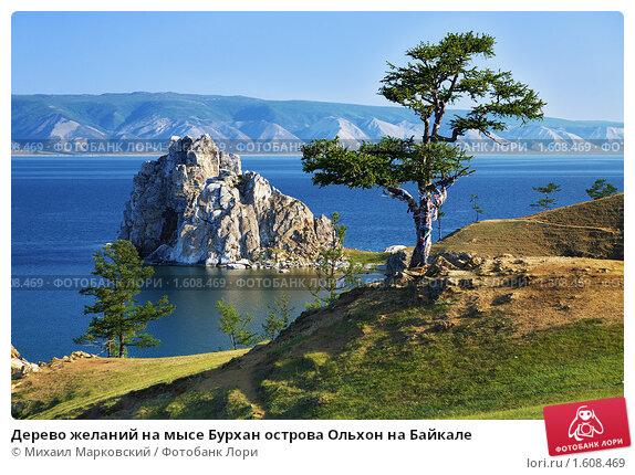 Дерево желаний на мысе Бурхан острова Ольхон на Байкале, фото № 1608469, снято 16 июля 2009 г. (c) Михаил Марковский / Фотобанк Лори