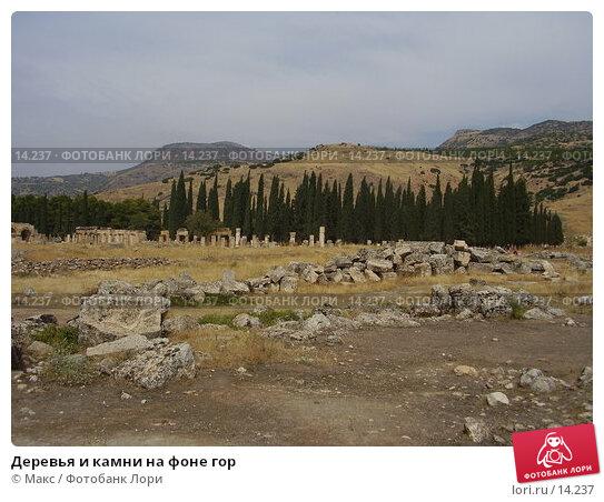 Купить «Деревья и камни на фоне гор», фото № 14237, снято 26 сентября 2006 г. (c) Макс / Фотобанк Лори