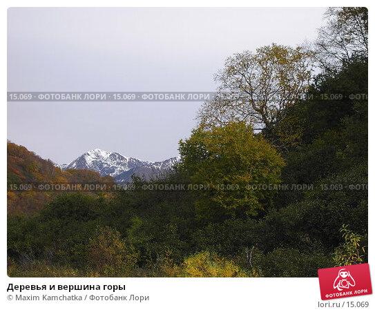 Деревья и вершина горы, фото № 15069, снято 3 октября 2006 г. (c) Maxim Kamchatka / Фотобанк Лори