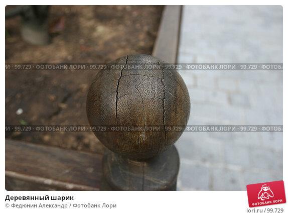 Купить «Деревянный шарик», фото № 99729, снято 30 апреля 2007 г. (c) Федюнин Александр / Фотобанк Лори