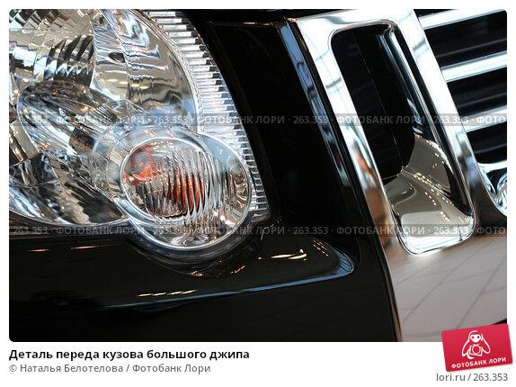 Деталь переда кузова большого джипа, фото № 263353, снято 26 апреля 2008 г. (c) Наталья Белотелова / Фотобанк Лори