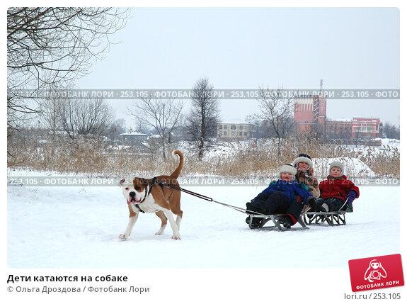 Дети катаются на собаке, фото № 253105, снято 26 февраля 2005 г. (c) Ольга Дроздова / Фотобанк Лори