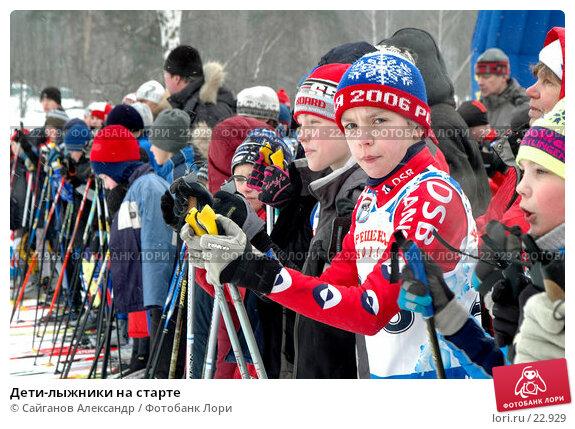 Дети-лыжники на старте, фото № 22929, снято 3 февраля 2007 г. (c) Сайганов Александр / Фотобанк Лори
