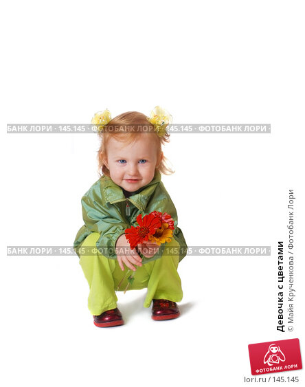 Девочка с цветами, фото № 145145, снято 31 августа 2007 г. (c) Майя Крученкова / Фотобанк Лори