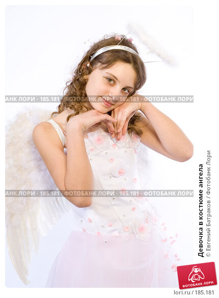 Девочка в костюме ангела, фото № 185181, снято 13 января 2008 г. (c) Евгений Батраков / Фотобанк Лори