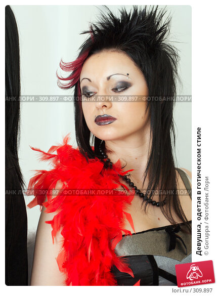 Девушка, одетая в готическом стиле, фото № 309897, снято 1 июня 2008 г. (c) Goruppa / Фотобанк Лори