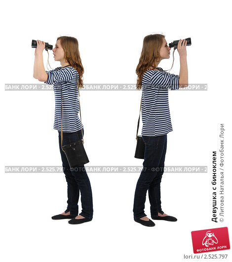 Купить «Девушка с биноклем», фото № 2525797, снято 12 марта 2011 г. (c) Литова Наталья / Фотобанк Лори
