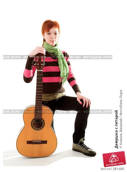 Девушка с гитарой, фото № 281641, снято 21 марта 2008 г. (c) Коваль Василий / Фотобанк Лори