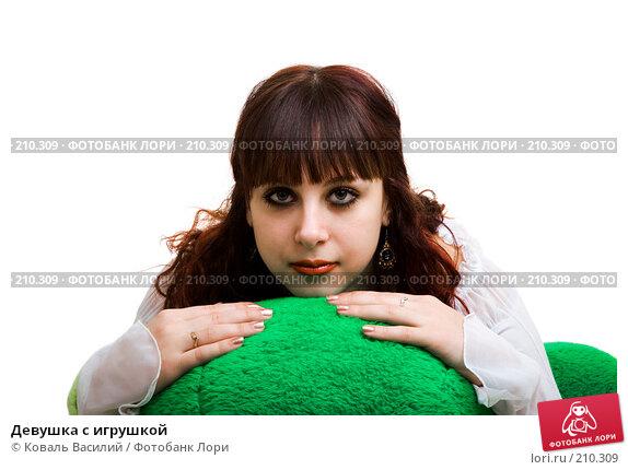 Купить «Девушка с игрушкой», фото № 210309, снято 8 декабря 2006 г. (c) Коваль Василий / Фотобанк Лори