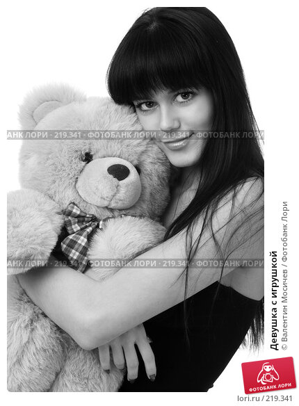 Девушка с игрушкой, фото № 219341, снято 22 декабря 2007 г. (c) Валентин Мосичев / Фотобанк Лори