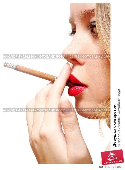 Девушка с сигаретой, фото № 124889, снято 20 ноября 2007 г. (c) Валерия Потапова / Фотобанк Лори