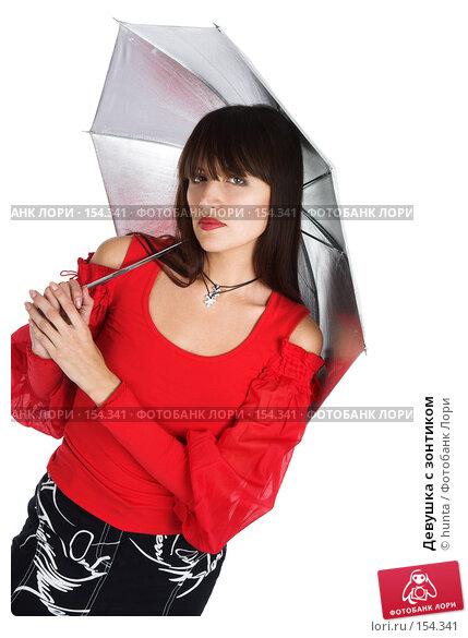 Девушка с зонтиком, фото № 154341, снято 25 октября 2007 г. (c) hunta / Фотобанк Лори