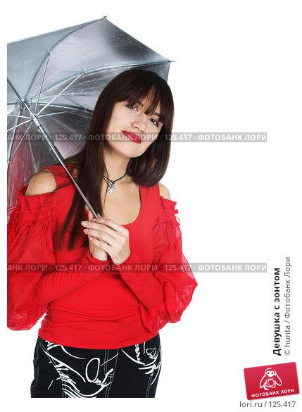 Девушка с зонтом, фото № 125417, снято 25 октября 2007 г. (c) hunta / Фотобанк Лори