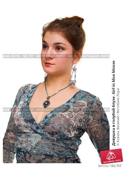 Девушка в голубой блузе. Girl in blue blouse, фото № 182757, снято 2 ноября 2006 г. (c) Коваль Василий / Фотобанк Лори