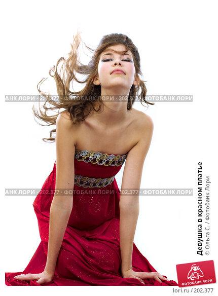 Девушка в красном платье, фото № 202377, снято 10 января 2007 г. (c) Ольга С. / Фотобанк Лори