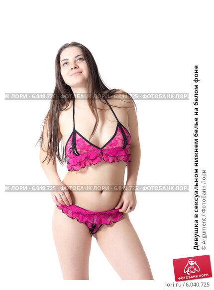 2283c855083a Купить «Девушка в сексуальном нижнем белье на белом фоне», фото № 6040725,