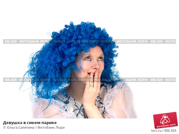 Девушка в синем парике, фото № 306929, снято 19 апреля 2008 г. (c) Ольга Сапегина / Фотобанк Лори