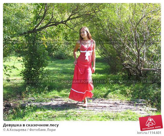 Девушка в сказочном лесу, фото № 114601, снято 2 сентября 2007 г. (c) A.Козырева / Фотобанк Лори