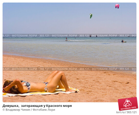 Девушка,  загорающая у Красного моря, эксклюзивное фото № 303121, снято 21 мая 2008 г. (c) Владимир Чинин / Фотобанк Лори