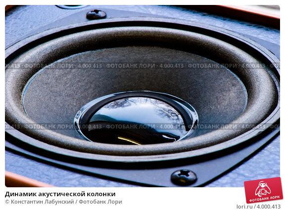 Купить «Динамик акустической колонки», фото № 4000413, снято 1 ноября 2012 г. (c) Константин Лабунский / Фотобанк Лори