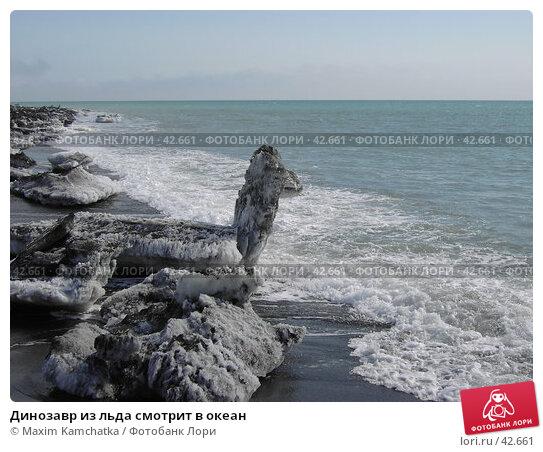Динозавр из льда смотрит в океан, фото № 42661, снято 30 апреля 2007 г. (c) Maxim Kamchatka / Фотобанк Лори