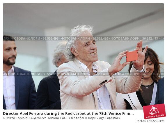 Director Abel Ferrara during the Red carpet at the 78th Venice Film... Редакционное фото, фотограф Mirco Toniolo / AGF/Mirco Toniolo / AGF / age Fotostock / Фотобанк Лори