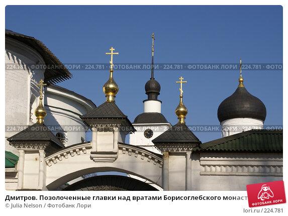 Дмитров. Позолоченные главки над вратами Борисоглебского монастыря, фото № 224781, снято 11 марта 2008 г. (c) Julia Nelson / Фотобанк Лори