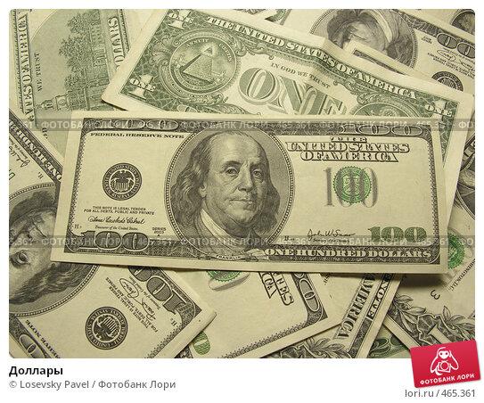 Купить «Доллары», фото № 465361, снято 25 января 2020 г. (c) Losevsky Pavel / Фотобанк Лори