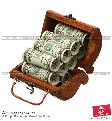 Купить «Доллары в сундучке», фото № 1737141, снято 29 мая 2010 г. (c) Игорь Веснинов / Фотобанк Лори