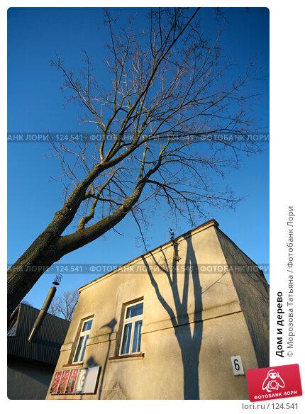 Дом и дерево, фото № 124541, снято 3 января 2007 г. (c) Морозова Татьяна / Фотобанк Лори
