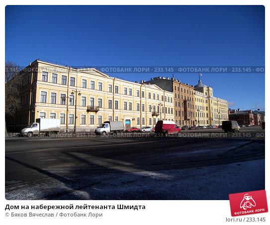 Дом на набережной лейтенанта Шмидта, фото № 233145, снято 26 февраля 2008 г. (c) Бяков Вячеслав / Фотобанк Лори