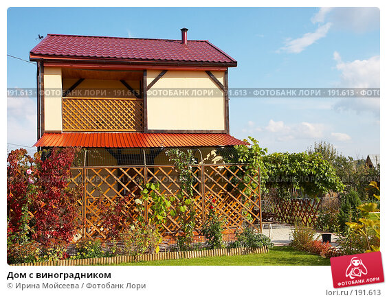 Дом с виноградником, фото № 191613, снято 26 сентября 2007 г. (c) Ирина Мойсеева / Фотобанк Лори