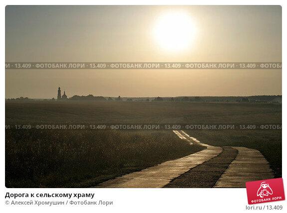 Дорога к сельскому храму , фото № 13409, снято 23 июля 2017 г. (c) Алексей Хромушин / Фотобанк Лори