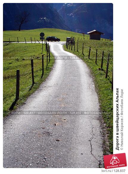 Дорога в швейцарских Альпах, фото № 128837, снято 29 сентября 2006 г. (c) Николай Коржов / Фотобанк Лори