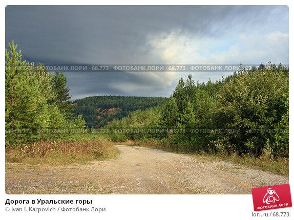 Дорога в Уральские горы, фото № 68773, снято 4 августа 2007 г. (c) Ivan I. Karpovich / Фотобанк Лори