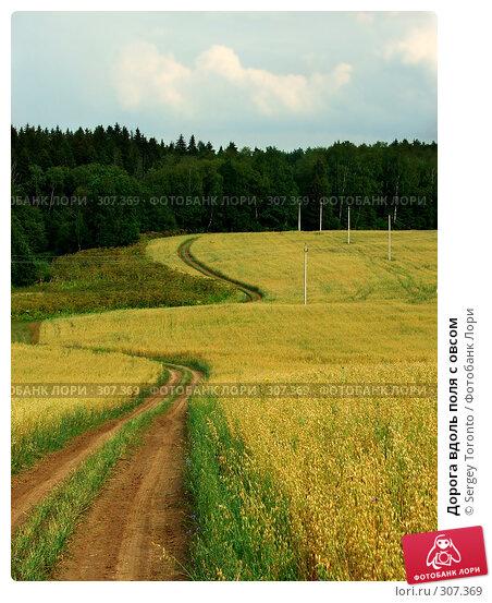 Дорога вдоль поля с овсом, фото № 307369, снято 28 июля 2004 г. (c) Sergey Toronto / Фотобанк Лори