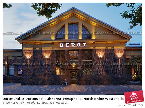Купить «Dortmund, D-Dortmund, Ruhr area, Westphalia, North Rhine-Westphalia, NRW, Depot Immermannstrasse, centre of arts and cultural center, former tram depot...», фото № 28443753, снято 7 сентября 2017 г. (c) age Fotostock / Фотобанк Лори