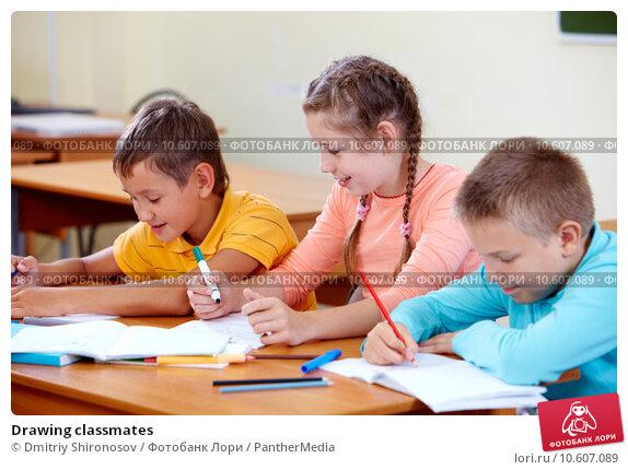 Drawing classmates. Стоковое фото, фотограф Dmitriy Shironosov / PantherMedia / Фотобанк Лори