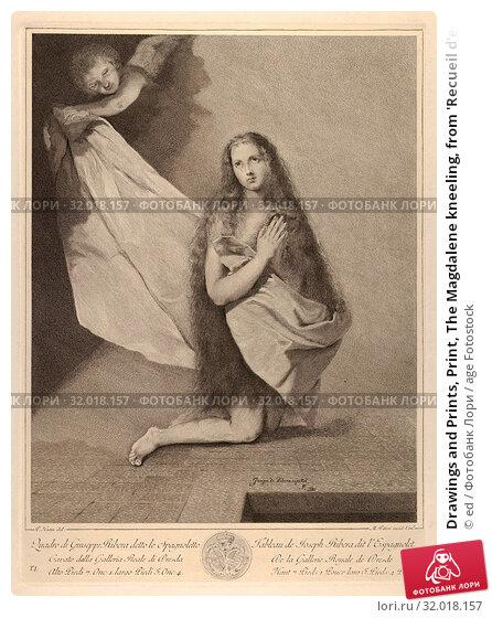 Купить «Drawings and Prints, Print, The Magdalene kneeling, from 'Recueil d'estampes d'apres les plus célebres tableaux de la Galerie Royale de Dresde', Engraver...», фото № 32018157, снято 22 апреля 2017 г. (c) age Fotostock / Фотобанк Лори