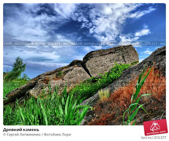 Древний камень, фото № 213577, снято 29 марта 2017 г. (c) Сергей Литвиненко / Фотобанк Лори