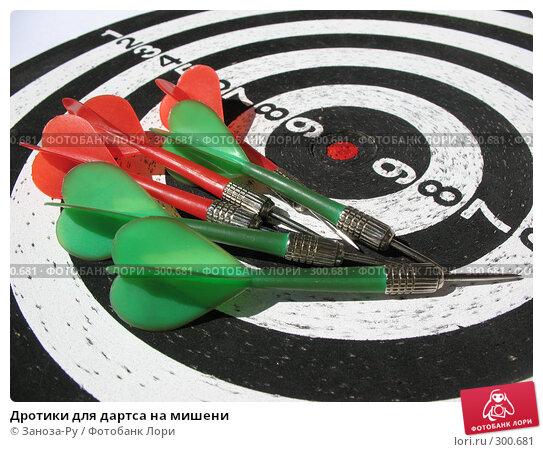 Дротики для дартса на мишени, фото № 300681, снято 24 мая 2008 г. (c) Заноза-Ру / Фотобанк Лори