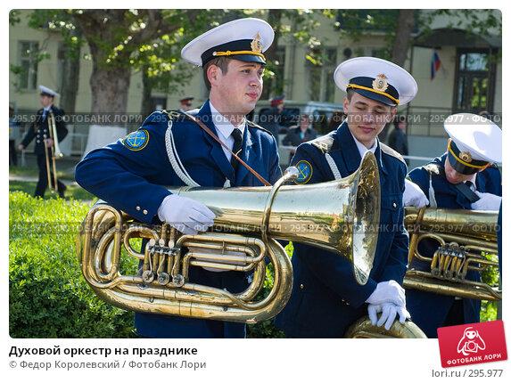 Купить «Духовой оркестр на празднике», фото № 295977, снято 9 мая 2008 г. (c) Федор Королевский / Фотобанк Лори