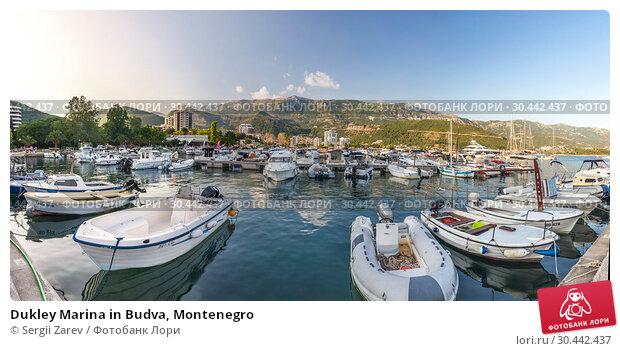 Купить «Dukley Marina in Budva, Montenegro», фото № 30442437, снято 10 июля 2018 г. (c) Sergii Zarev / Фотобанк Лори